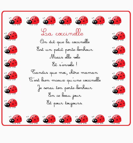 Poemes page 3 - Poeme coccinelle porte bonheur ...