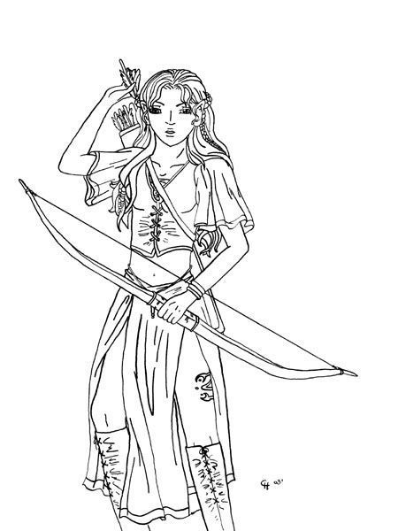Coloriage Elfe Fille.Coloriage Fantaisy Page 14